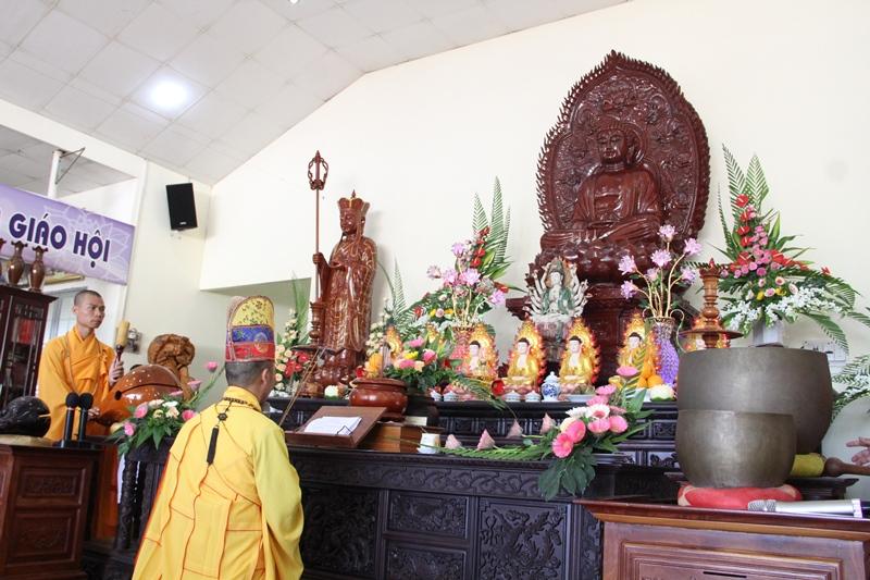 Lễ an vị Phật tại chùa Tây Trúc tại thôn 1B, xã Ea Mnang, huyện CưMgar