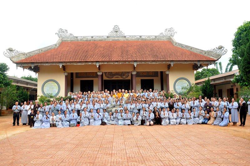 Khóa tu Một ngày an lạc tại chùa Phú Lộc, huyện Krông Năng