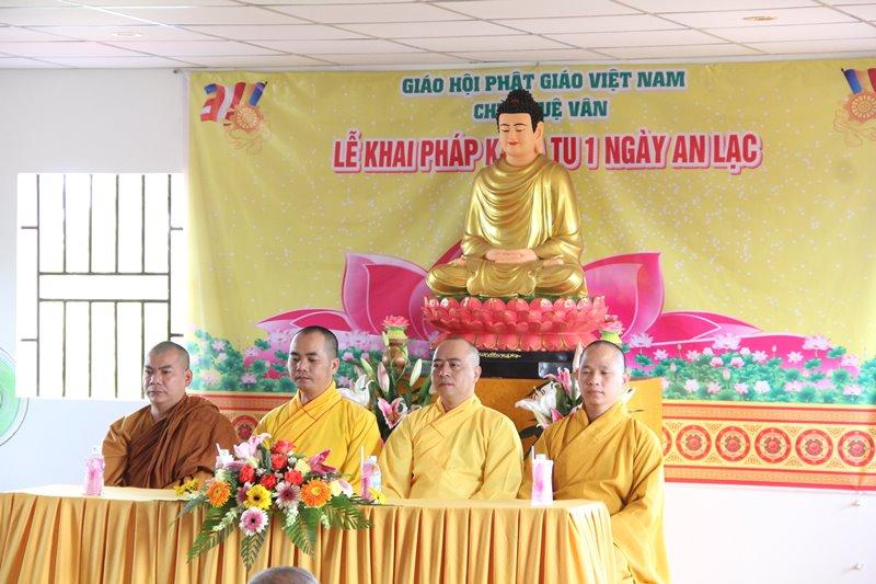 Lễ khai pháp khóa tu 1 ngày an lạc tại chùa Tuệ Vân, huyện Ea Kar