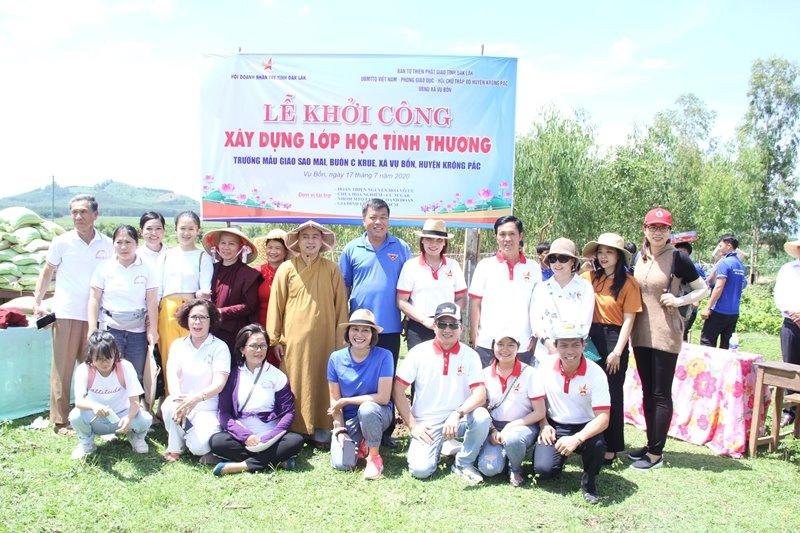 Khởi công xây dựng lớp học tình thương tại buôn Kruê, huyện Krông Păk
