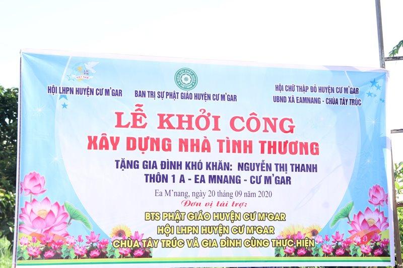 CưMgar: Khởi công xây nhà tình thương tại thôn 1A, xã Ea Mnang