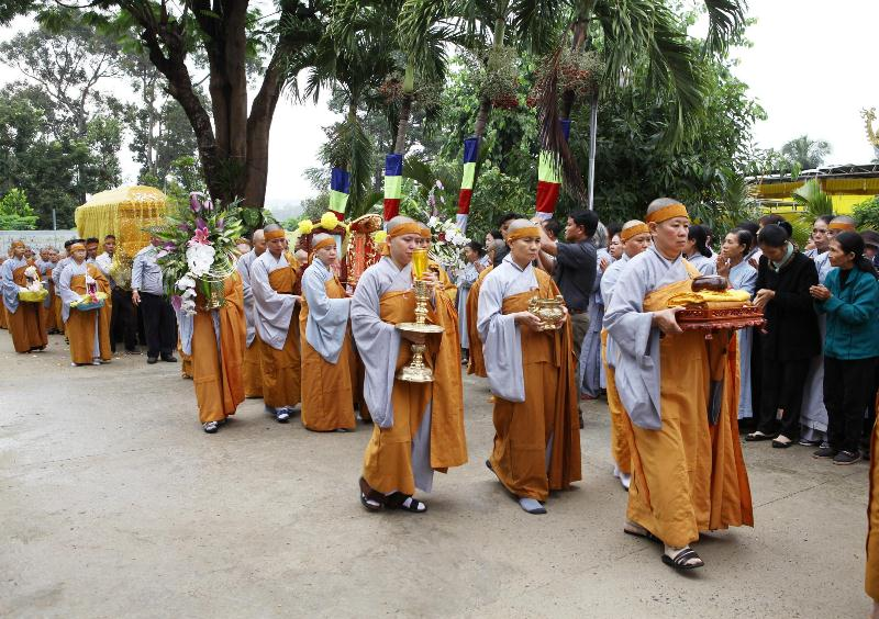 Lễ tưởng niệm và cung tống kim quan Ni trưởng Thích Nữ Chúc Như trà tỳ