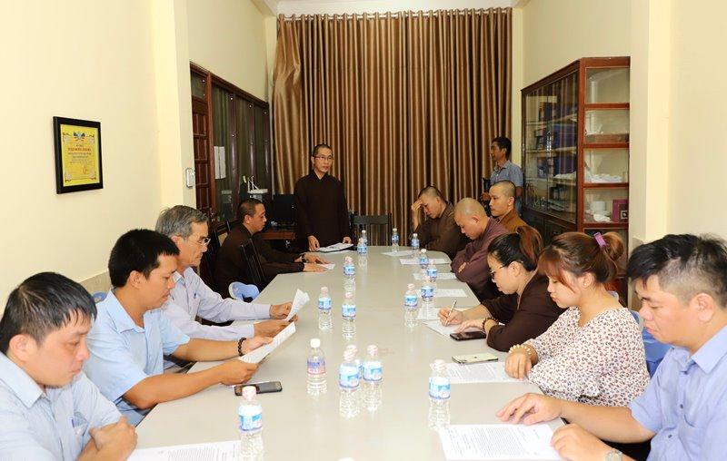 Ban TT-TT tỉnh Đak Lak họp Sơ kết công tác Phật sự năm 2020