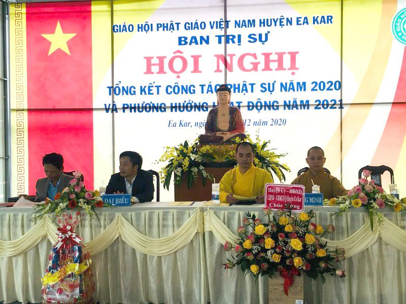 Phật giáo huyện EaKar tổng kết công tác Phật sự năm 2020