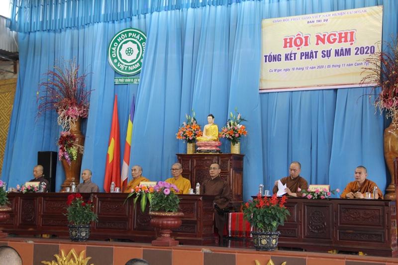 Phật giáo huyện CưMgar tổng kết công tác Phật sự năm 2020