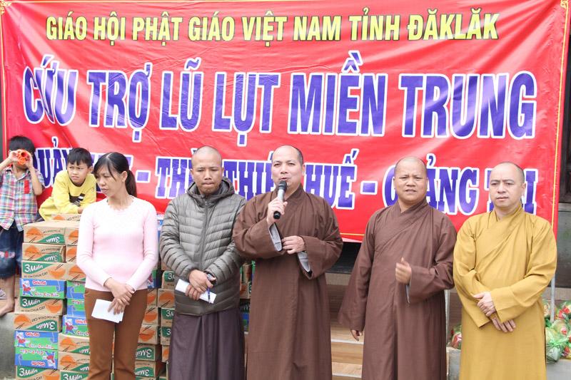 Phật giáo Đắk Lắk: Hướng về đồng bào vùng lũ tỉnh Thừa Thiên Huế