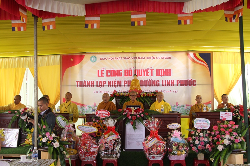 Huyện CưMgar: Lễ công bố quyết định thành lập NPĐ Linh Phước