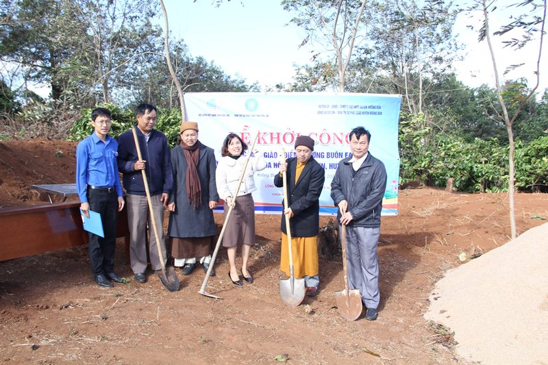 Krông Buk: Khởi công xây dựng lớp học tình thương điểm trường Mầm non Hoa Hồng tại buôn EaKap