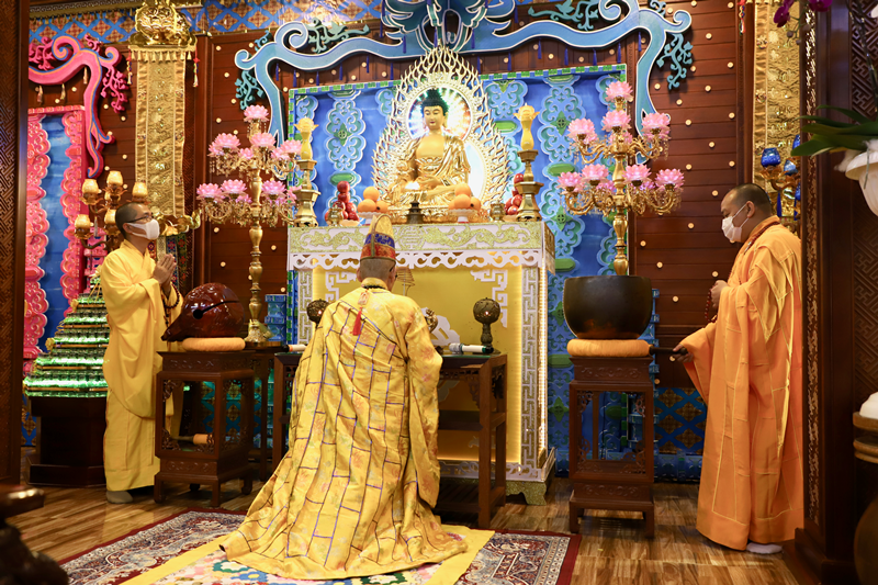 Khai đàn Dược sư Hải hội tại chùa Sắc tứ Khải Đoan