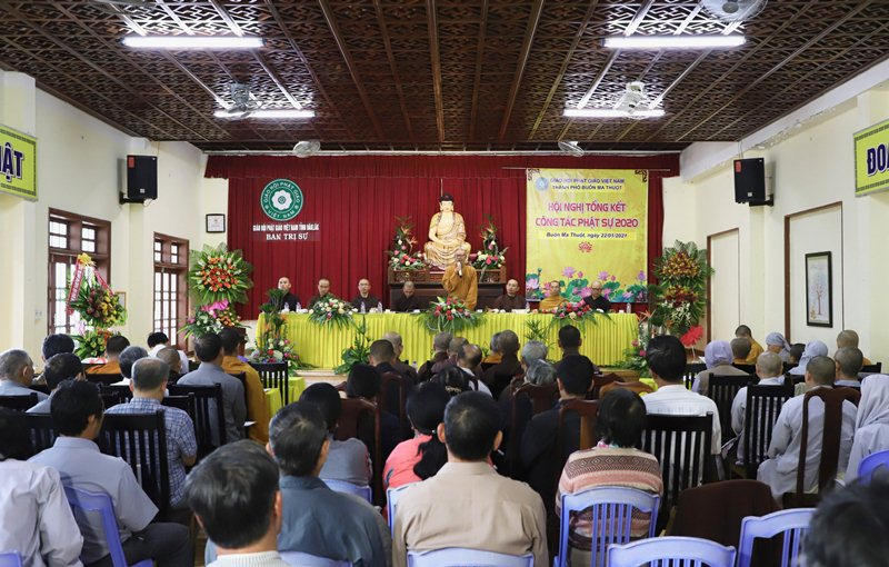 Buôn Ma Thuột: Hội nghị Tổng kết Phật sự năm 2020
