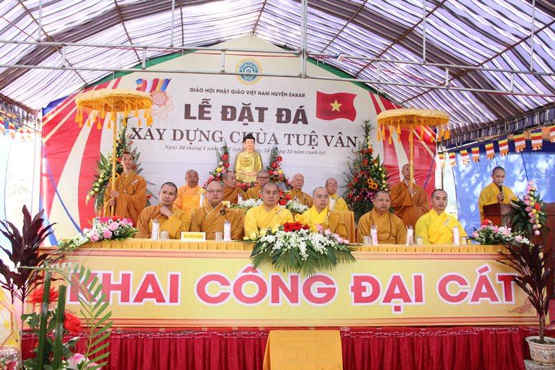 Lễ đặt đá xây dựng chùa Tuệ Vân, thị trấn Ea Knốp, huyện Ea Kar