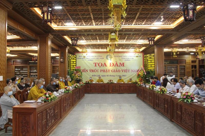 """Ban Văn hoá Trung ương GHPGVN tổ chức toạ đàm """"Kiến trúc Phật giáo Việt Nam"""" tại tỉnh Đắk Lắk"""