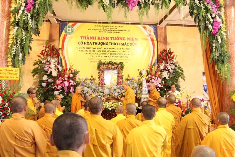 Phật giáo Đak Lak thành kính tưởng niệm cố Hòa thượng Thích Giác Dũng tại tịnh xá Ngọc Quang