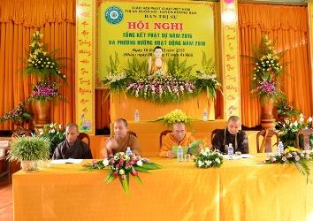 Hôi Nghi Tổng Kêt Công Tác Phật Sự Năm 2015 Cua Ban Trị Sự GHPGVN TX.Buôn Hồ-Krông Buk