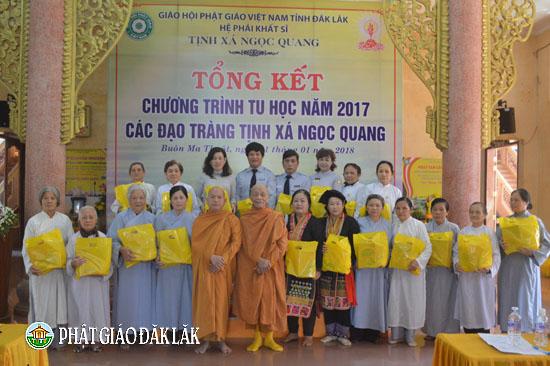 Tịnh Xá Ngọc Quang Tổng Kết Phật sự năm 2017