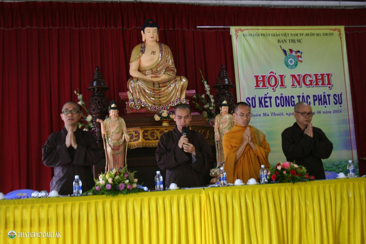 BTS PG Thành phố sơ kết Phật sự 6 tháng đầu năm