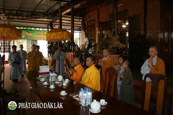 Chùa Tây Trúc thôn 1b xã EaMnang, huyện CưMgar tổ chức đại lễ Phật đản
