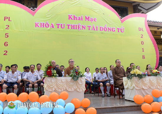 Lễ khai mạc khoá tu Thiện Tài Đồng Tử lần 11 tại Chùa Liên trì, xã Hoà Thuận, Tp.BMT