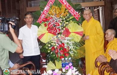 Các Cơ Quan chúc mừng Phật đản Ban Trị sự GHPGVN Tỉnh Đăk Lăk.