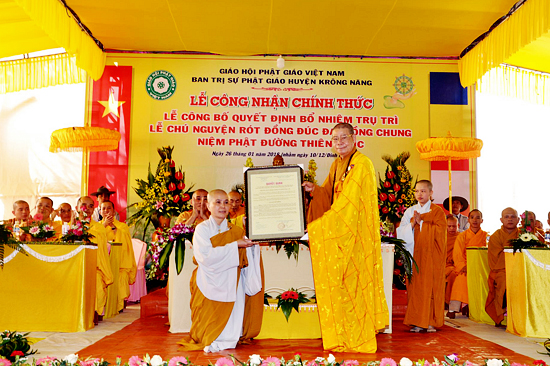 Huyện Krông Năng: Lễ bổ nhiệm Trụ trì NPĐ Thiên Trúc, Xã Ea Hồ