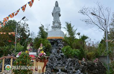 Chùa Linh Thứu long trọng tổ chức Lễ An Vị tượng Quán Thế Âm Bồ tát