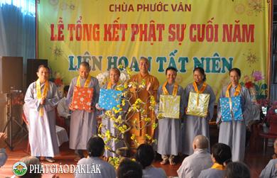 Lễ tổng kết Phật sự cuối năm Đinh Dậu – Chùa Phước Vân Huyện Krông Bông.