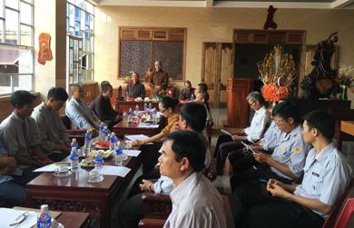 BTS Phật giáo huyện CưMgar họp triển khai công tác tổ chức Đại Lễ Phật Đản PL 2562