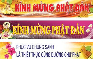 File băng rôn, banner chuẩn bị cho Đại Lễ Phật đản PL.2562 (phần 1)