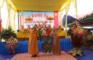 Huyện Krông Păk: chùa Phước Thiện đặt đá xây dựng Đại hùng Bảo điện