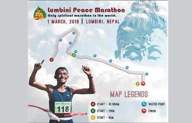 Chương trình marathon Hòa bình diễn ra tại Lâm Tỳ Ni