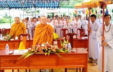 NPĐ Thiện Ân, xã Quảng Điền huyện Krông Ana tổ chức Đại lễ Phật Đản PL 2562