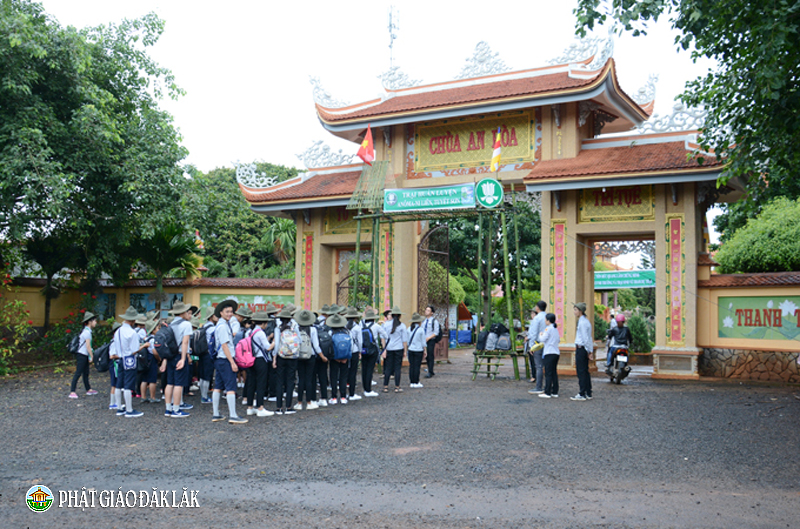 Tổ chức trại huấn luyện Anoma-Ni liên, Tuyết sơn 2018 tại chùa An Hòa, Thị xã Buôn Hồ