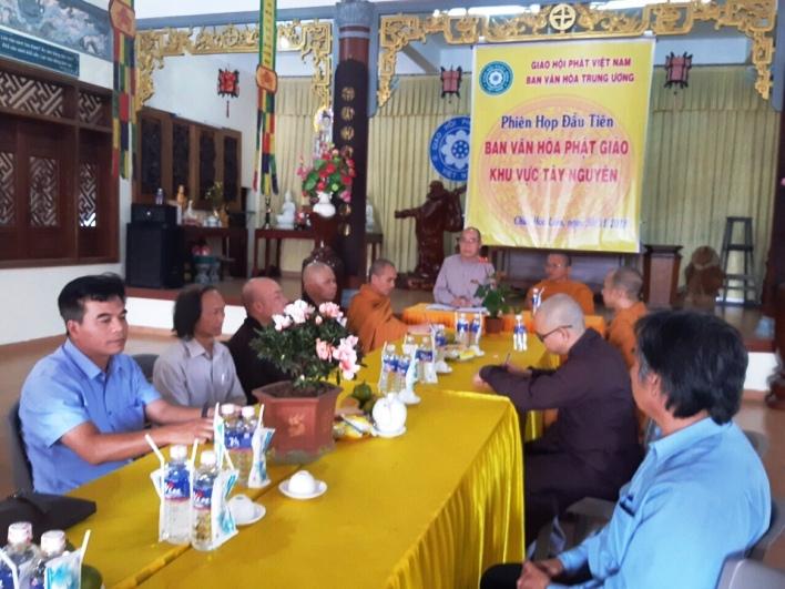Đắk Lắk: Ban Văn Hóa Phật giáo Khu vực Tây Nguyên tổ chức phiên họp đầu tiên