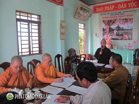 Phật giáo Huyện Eahleo sơ kết công tác Phật sự 2018