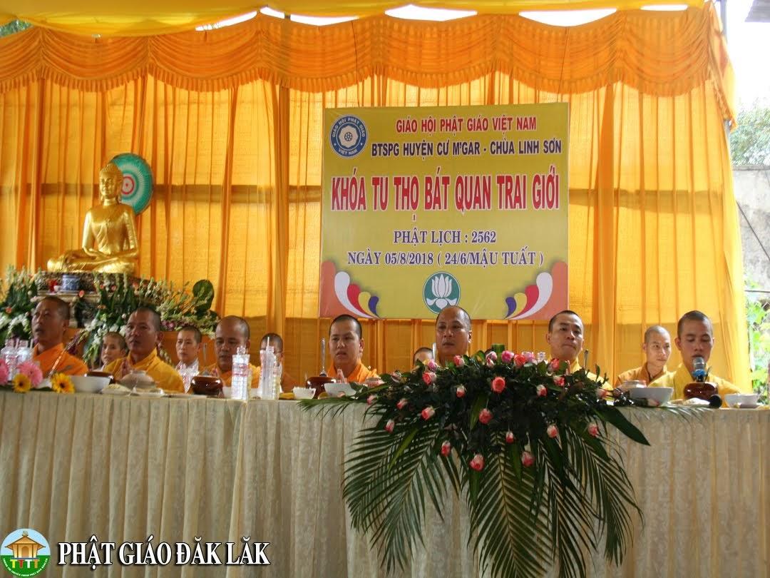Huyện CưMgar tổ chức khóa tu thọ bát quan trai giới tại chùa Linh Sơn