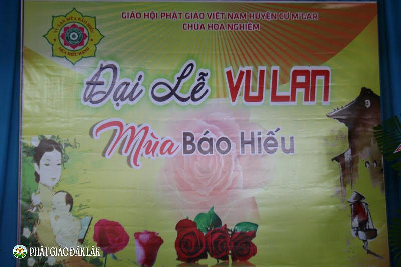 Huyện CưMgar: Chùa Hoa Nghiêm tổ chức lễ Vu Lan Báo Hiếu PL.2562-DL.2018