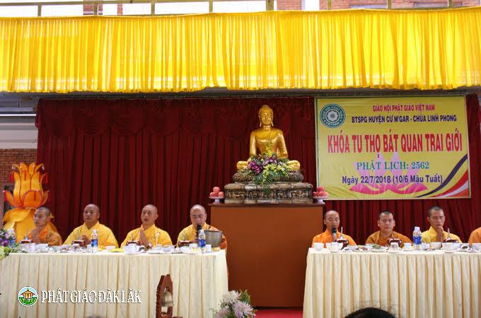 Huyện CưMgar: Khoá tu Bát Quan Trai Giới tại chùa Linh Phong