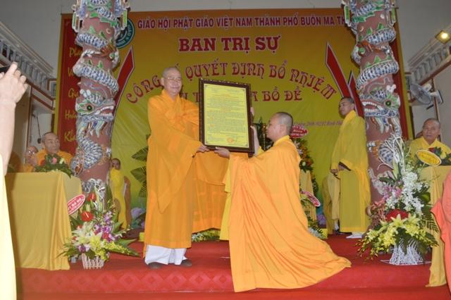 Đăk Lăk: Lễ Bổ Nhiệm Trụ trì Chùa Bồ Đề Thành phố Buôn Ma Thuột