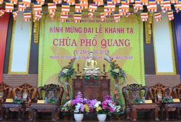 Đại Lễ Khánh Tạ Lạc Thành chùa Phổ Quang huyện CưM'Gar