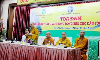 """Tọa đàm """"Sinh hoạt Phật giáo trong đồng bào các Dân tộc Tây Nguyên"""""""