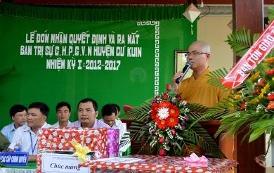 Lễ Đón nhận Quyết Định và Ra Mắt Ban Trị Sự GHPGVN Huyện CưKuin, Tỉnh DakLak  Nhiệm Kỳ I ( 2012 – 2017)