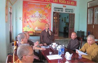 BTS Phật giáo huyện EaHleo họp triển khai Phật đản PL 2562