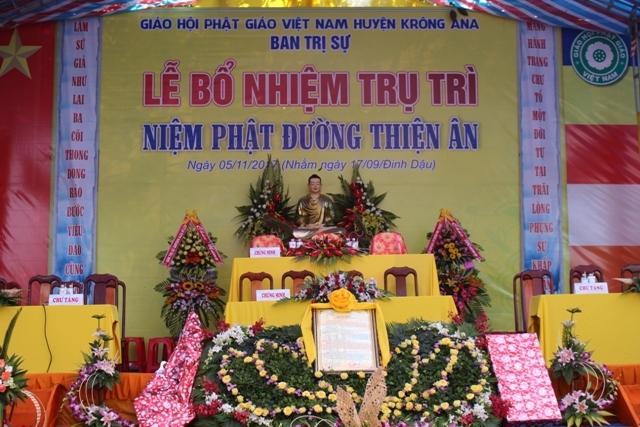 Lễ bổ nhiệm trụ trì Niệm Phật Đường Thiện Ân – huyện Krông Ana