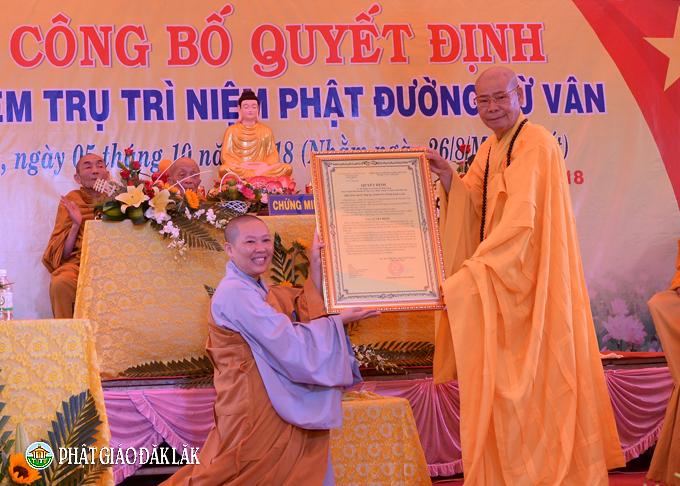 Lễ bổ nhiệm trụ trì Niệm Phật đường Từ Vân – Huyện Cư Kuin