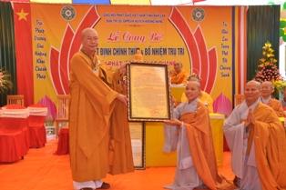 Lễ công nhận chính thức và công bố quyết định bổ nhiệm trụ trì NPĐ Pháp Quang huyện Krông Năng
