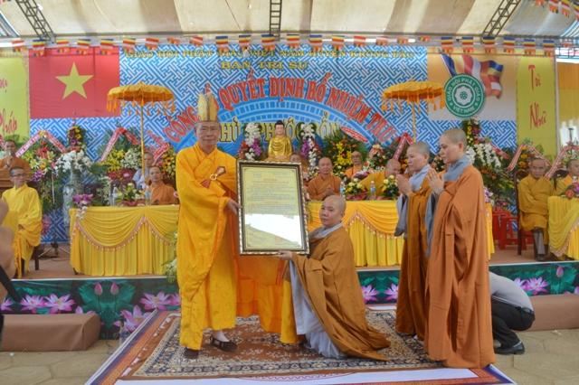 Lễ bổ nhiệm Trụ trì chùa Phước Bổn Huyện Krông Păk