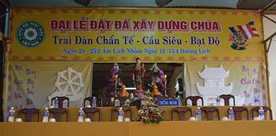 Lễ Động Thổ Đặt Đá Trùng Tu Chùa Phổ Đà