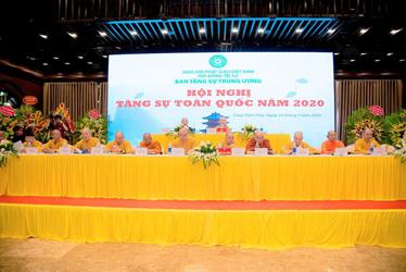 Hòa thượng Chủ tịch Hội đồng Trị sự GHPGVN phát biểu chỉ đạo tại Hội nghị Tăng sự toàn quốc năm 2020
