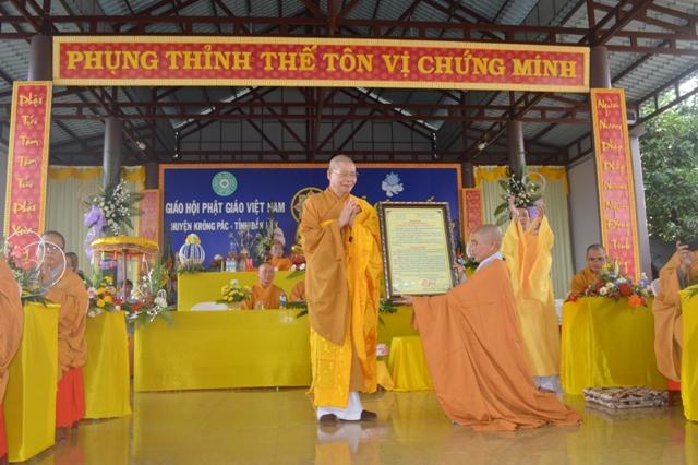 Lễ Công Nhận Chính Thức Chùa Diệu Âm Huyện Krông Pắc