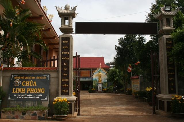 Đăk Lăk: Lịch sử Chùa Linh Phong tọa lạc tại huyện CưM